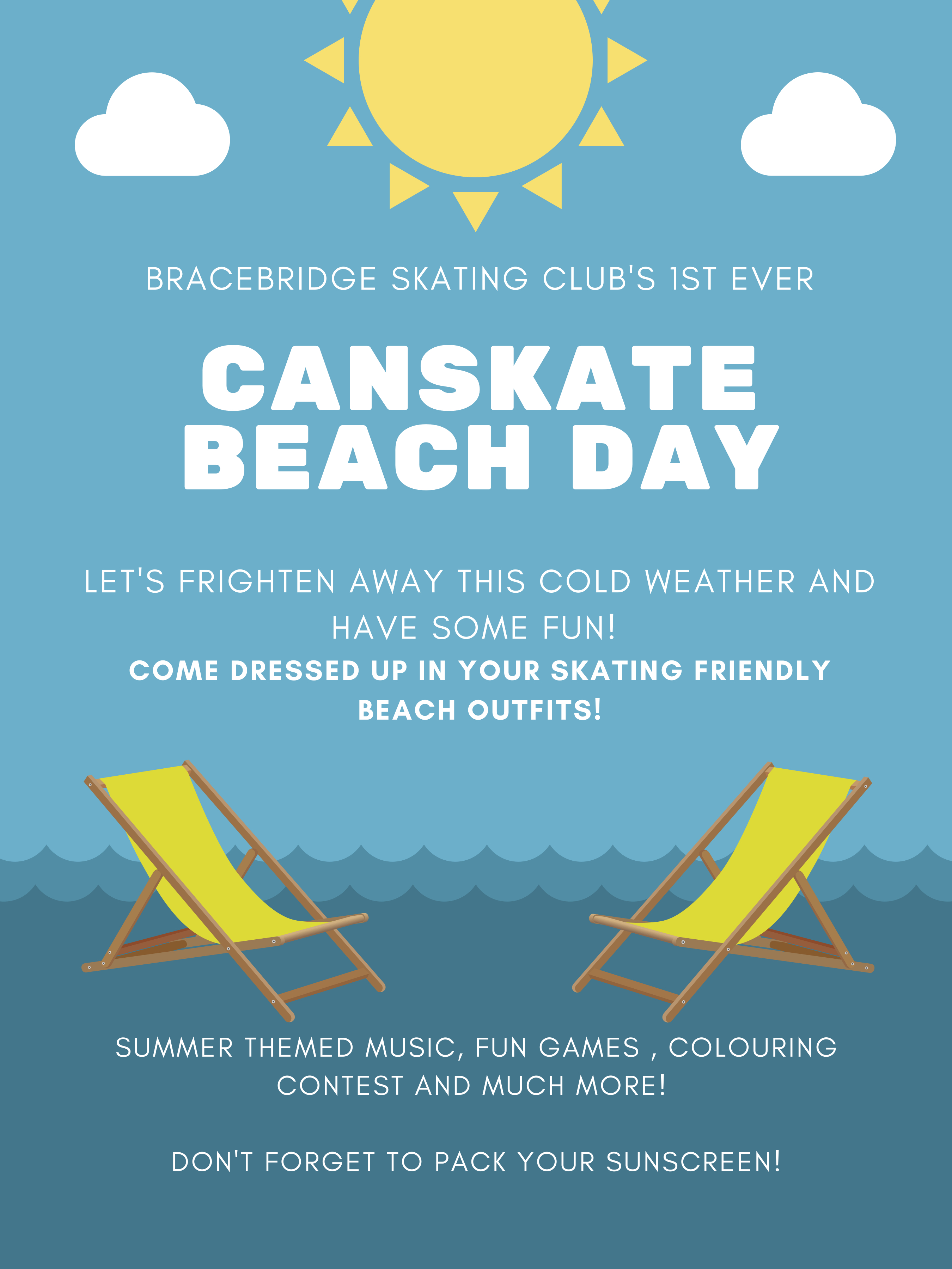 First ever Canskate Beach Day poster