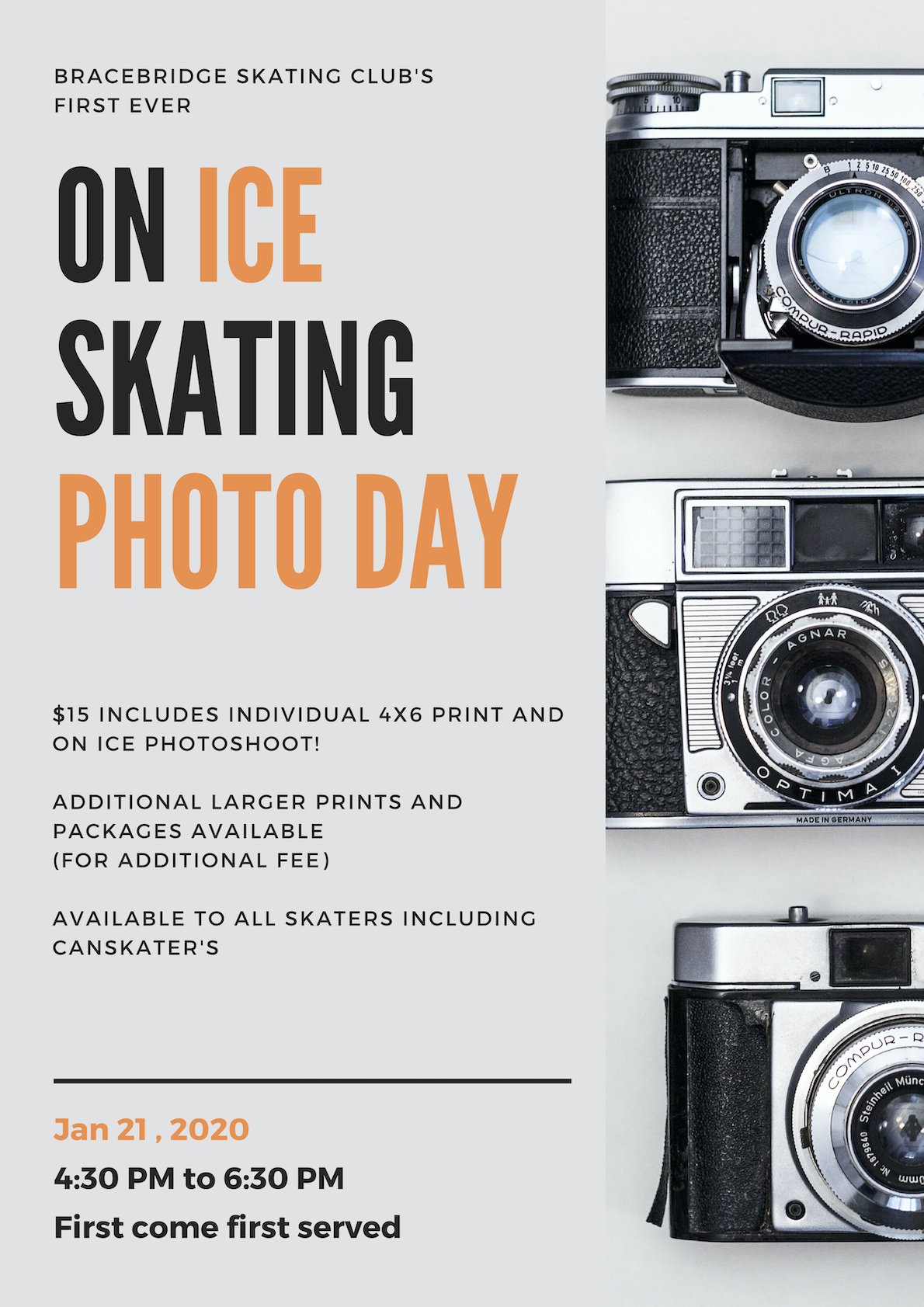 On Ice Skating Photo Day Poster