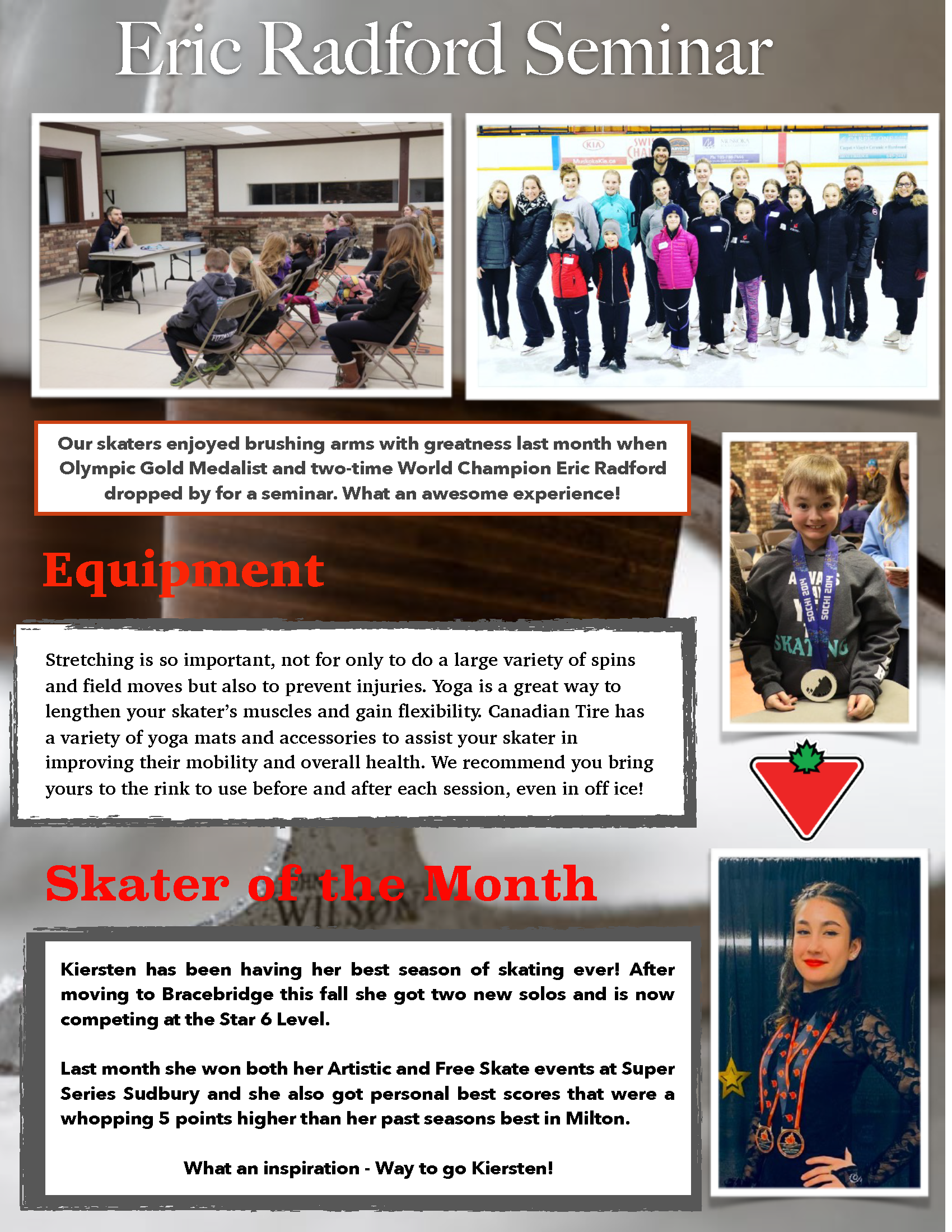Muskoka Skates Newsletter, March 2020, Page 2 of 2